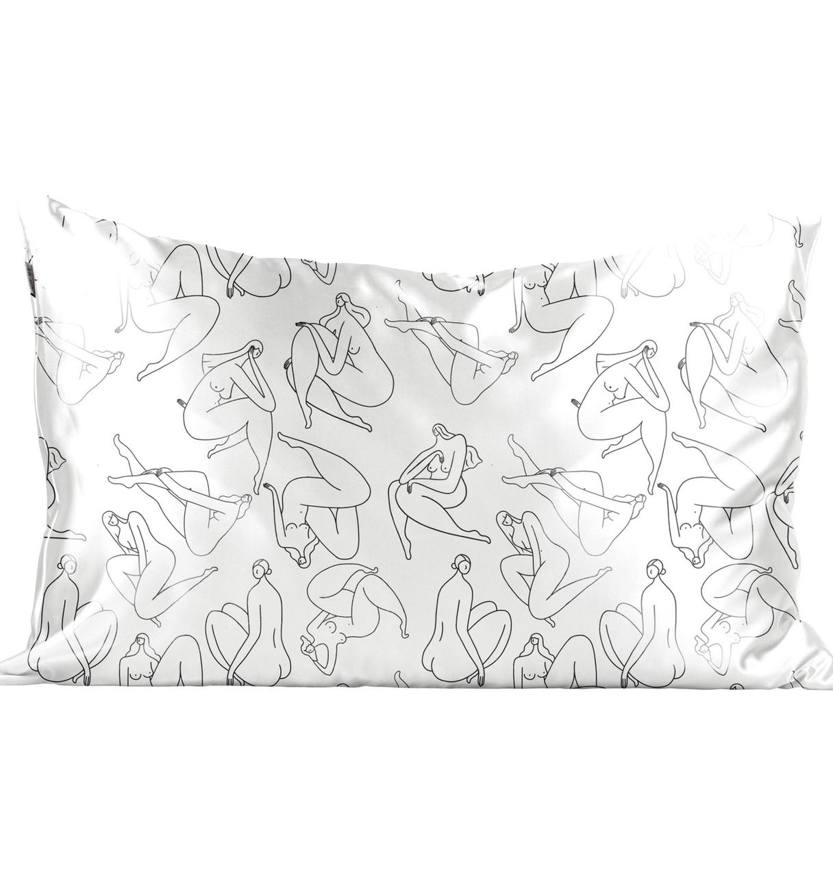 Kitsch Satin Pillowcase - Body Positivity Drawing