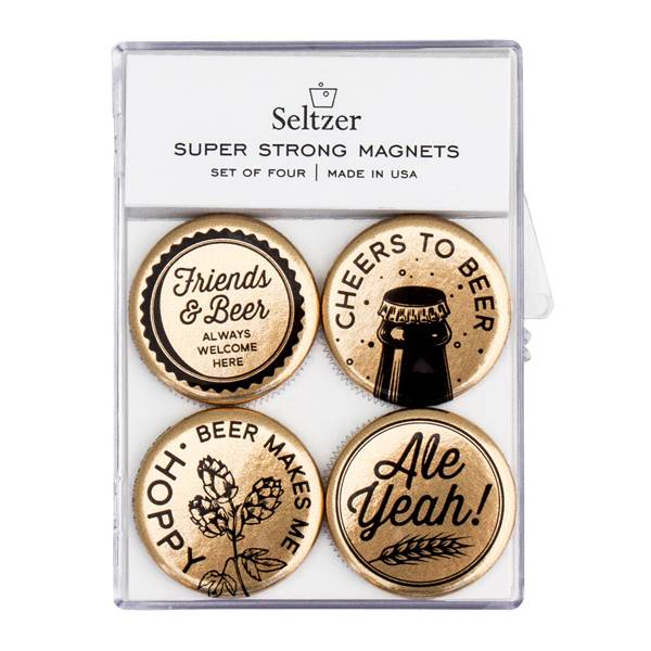 Seltzer Magnet Set - Beer Gold