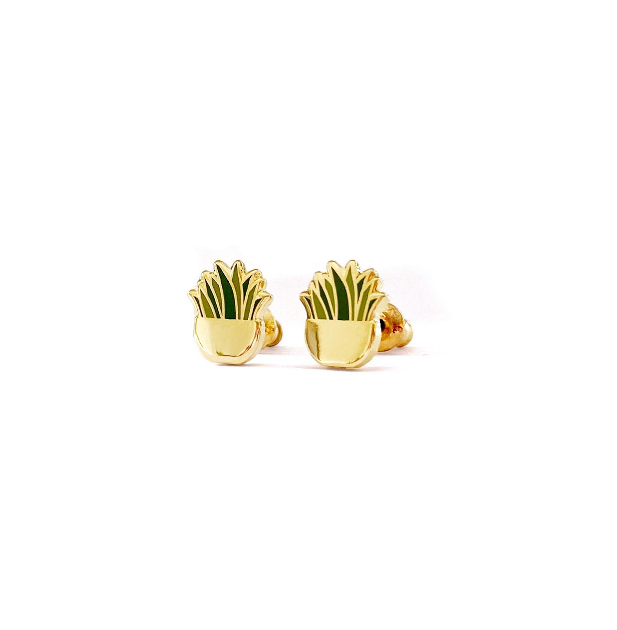 Boss Dotty Snake Plant Earrings