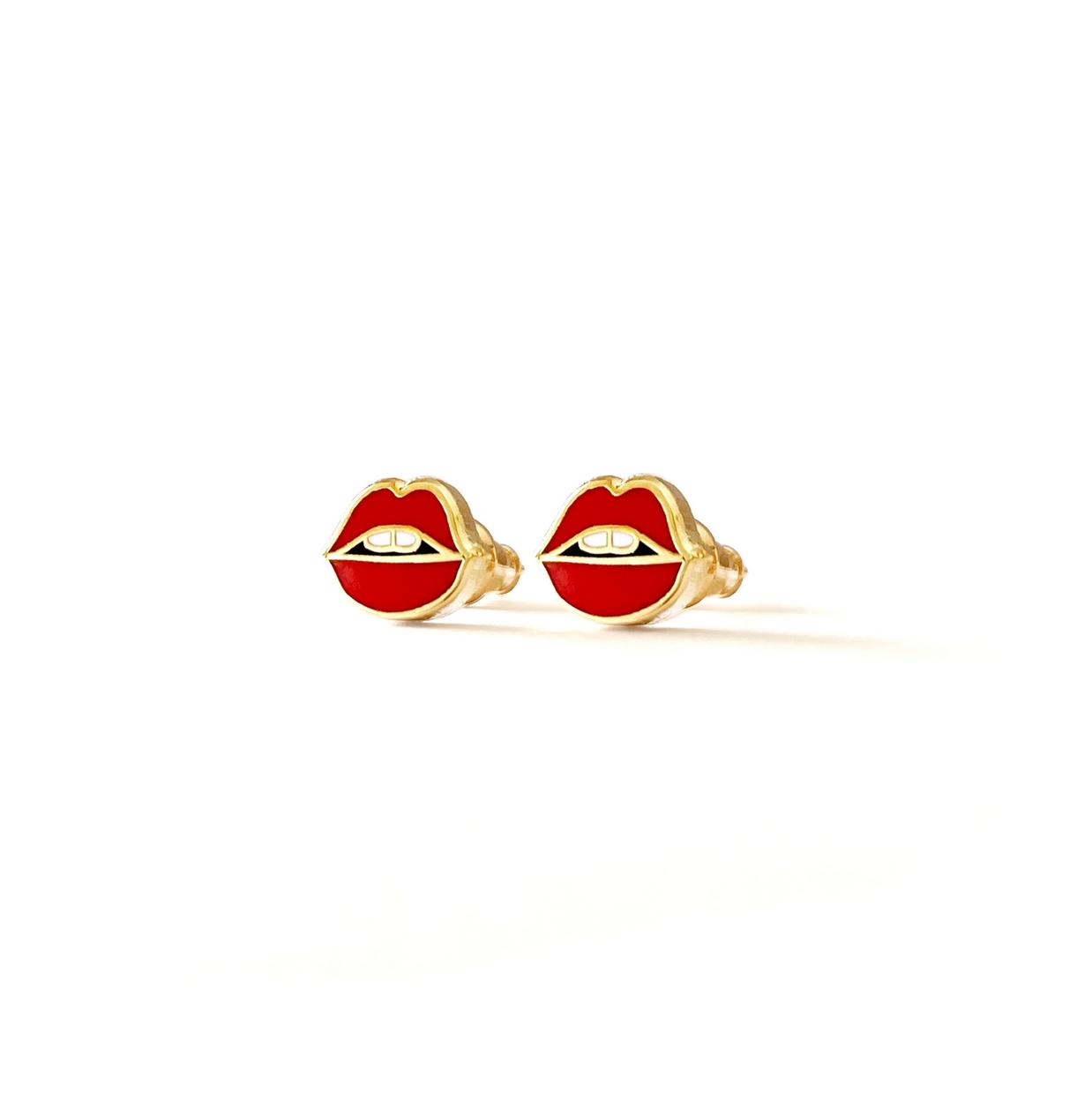 Boss Dotty Lips Earrings