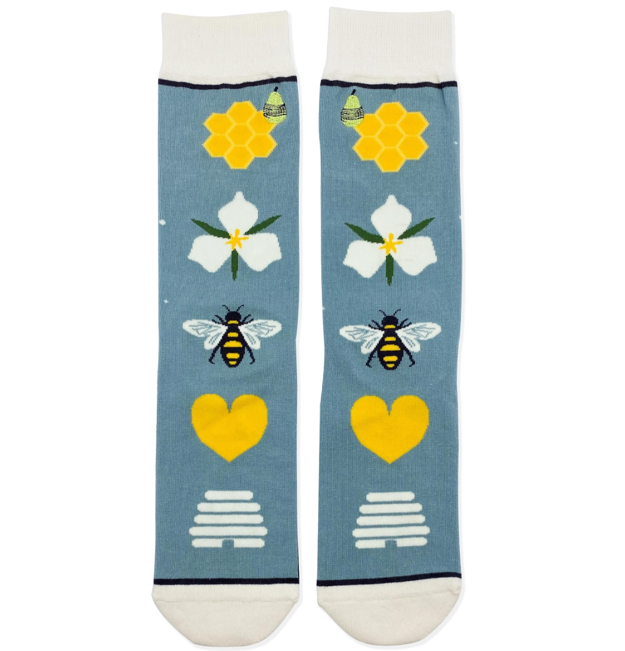 Woven Pear Save the Bees Socks