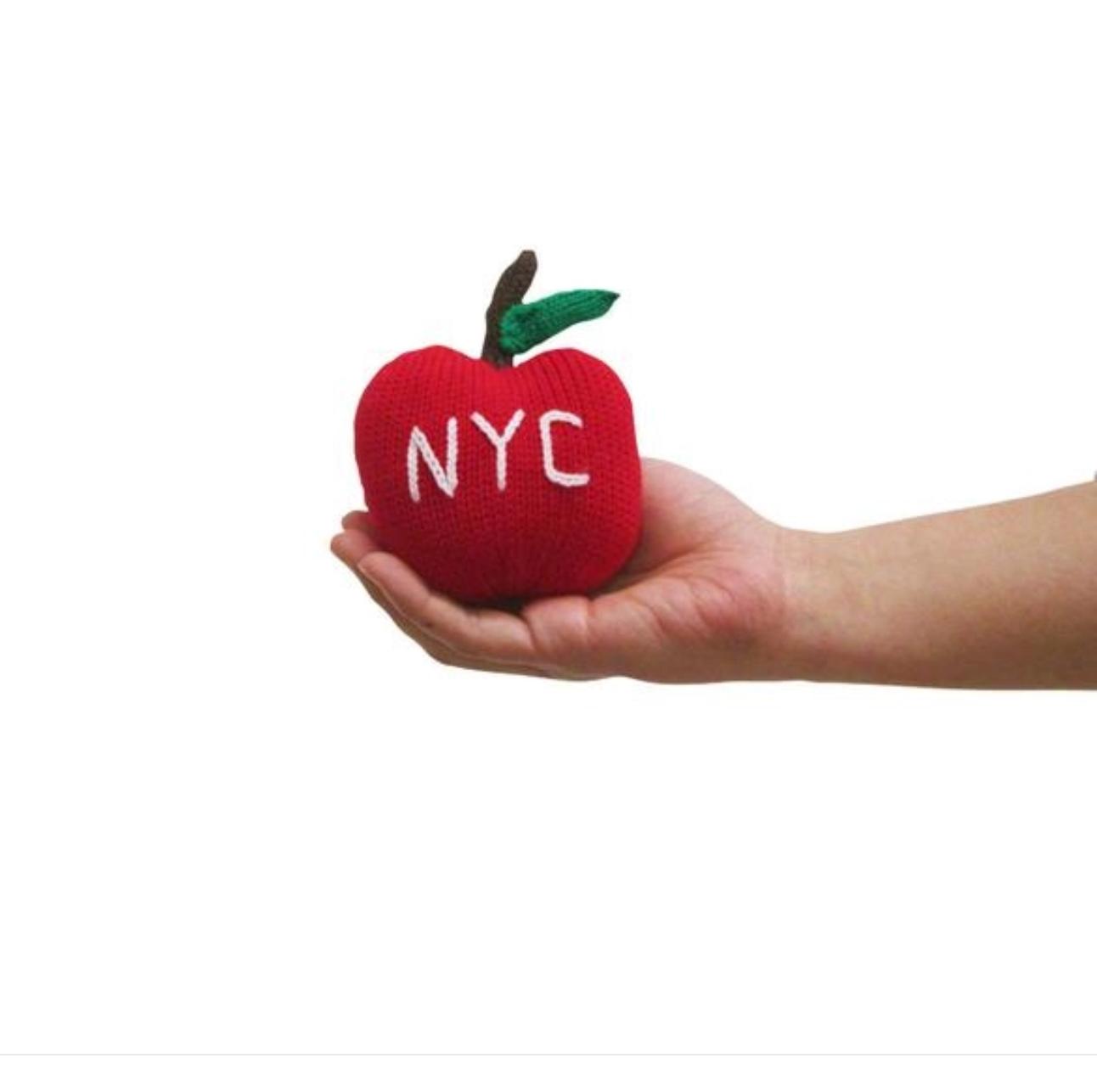 Estella Organic Baby Toy-Big Apple Rattle