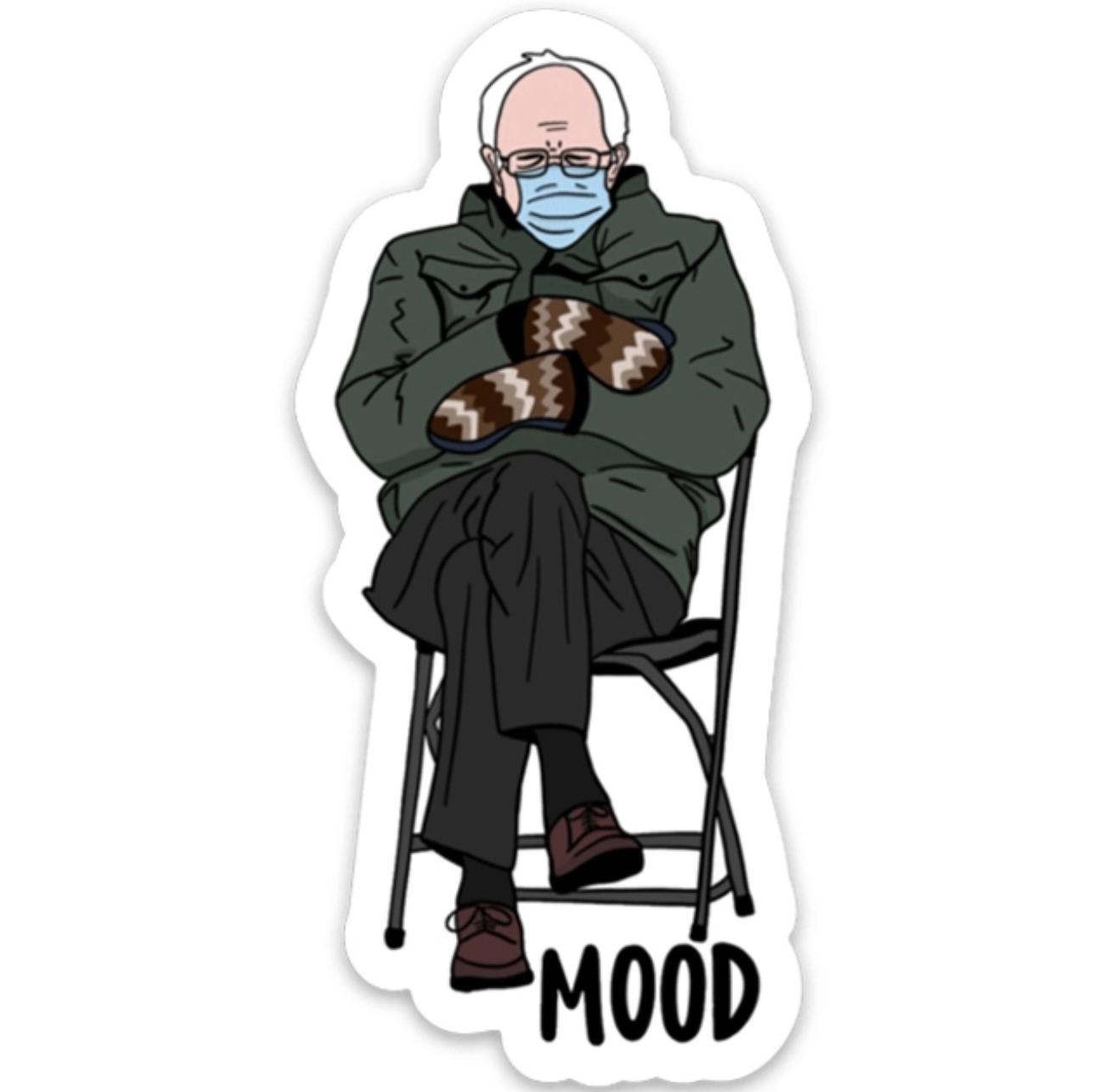 Brittany Paige Bernie Sanders Mood Sticker