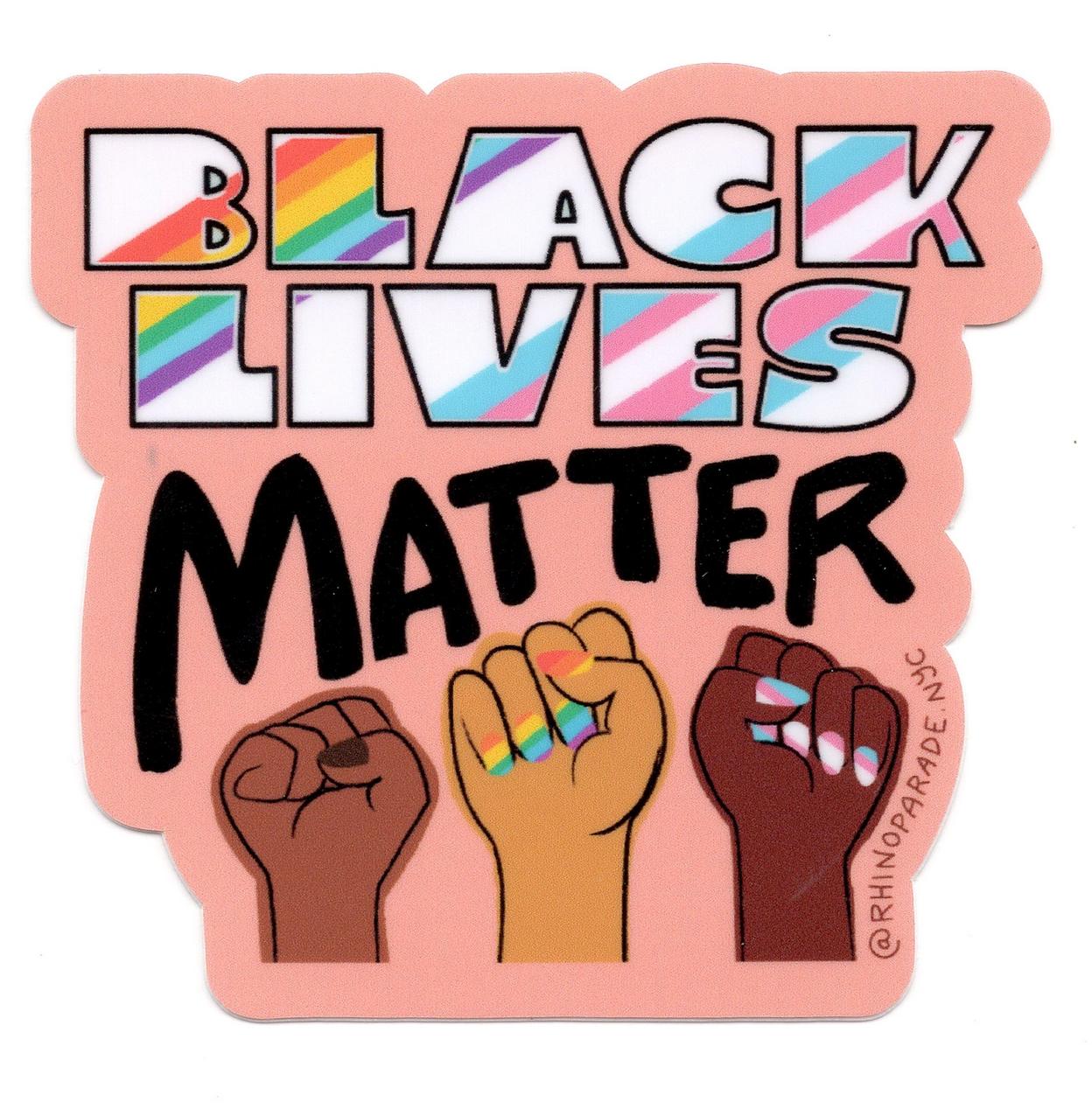 Rhino Parade Rhino Parade Black Lives Matter Sticker