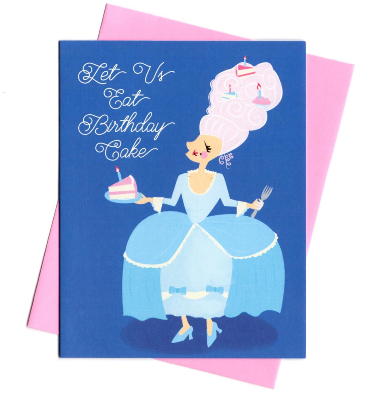 Rhino Parade Let's Us Eat Birthday Cake Card