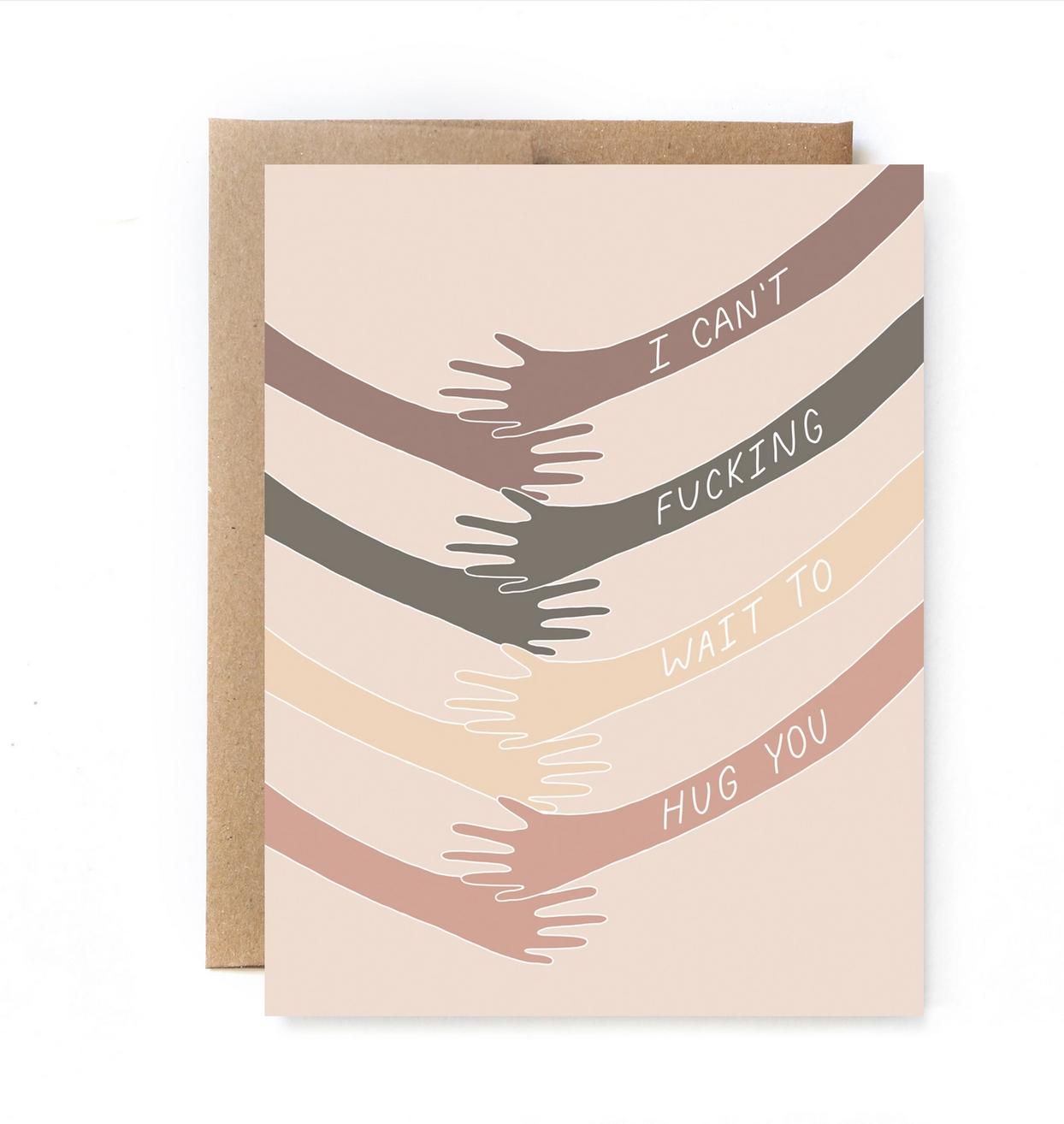 Unblushing Quarantine Card - Hug You