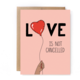Unblushing Love Card - Not Cancelled
