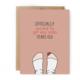 Unblushing Birthday Card - New Socks