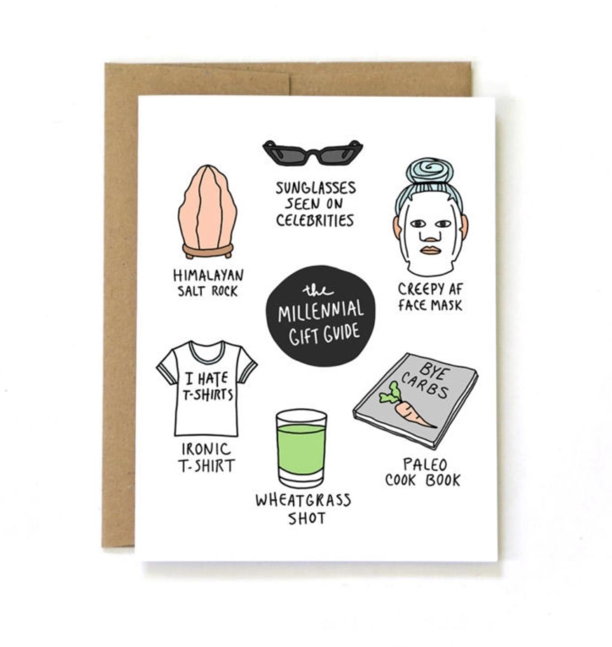 Unblushing Birthday Card - Millennial