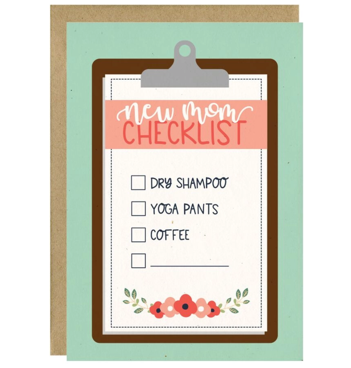 Little Lovelies Studio New Mom Checklist Baby Card