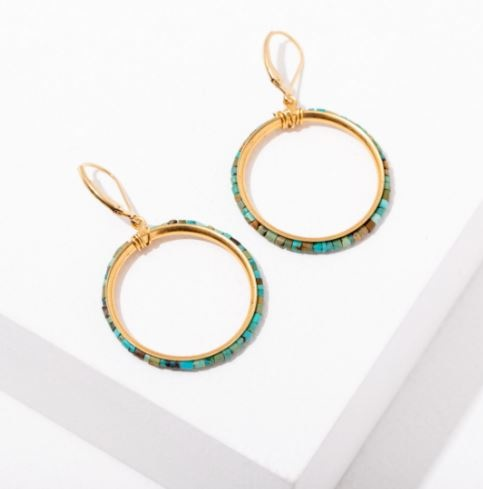 Larissa Loden Turquoise Hoops - Wild Isles Collab Earrings