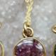 Cameoko Mini Full Moon Necklace-purple lepidolite + chrysocolla