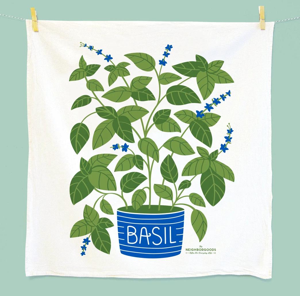 The Neighborgoods Tea Towel-Basil