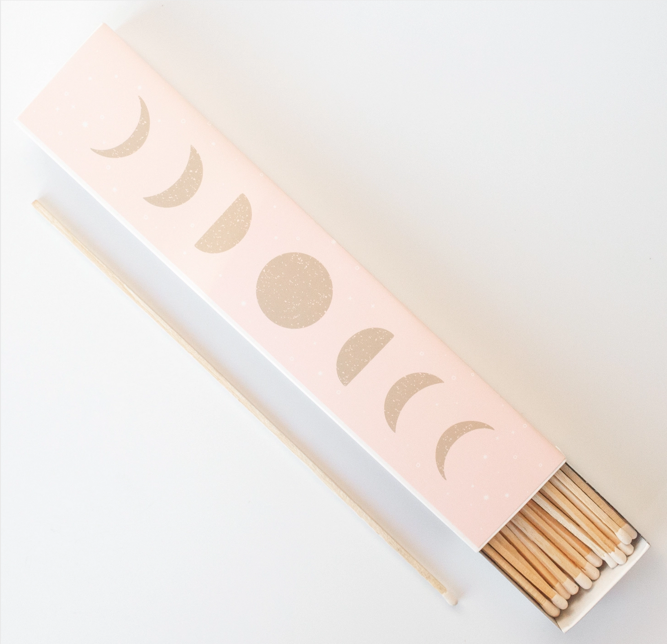 """Greenmarket Purveying Co. Moon Phases 11"""" Fireplace Matchbox"""