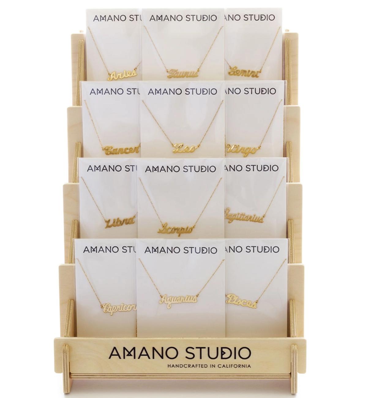 Amano Studio Zodiac Script Necklace