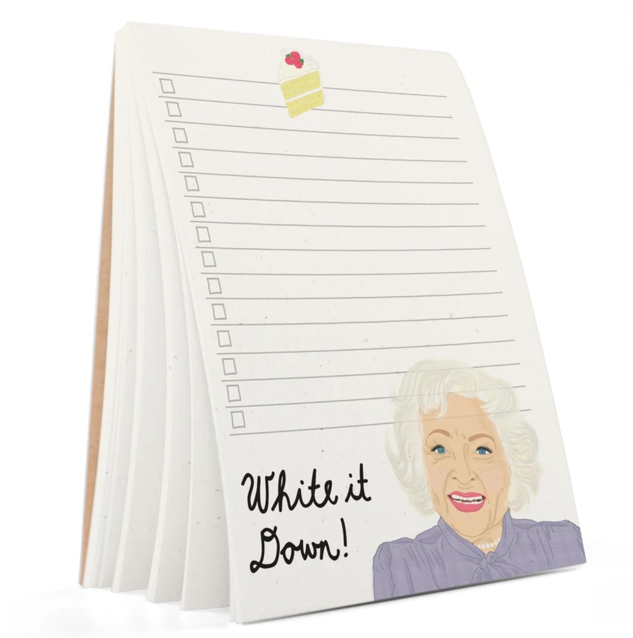Tay Ham Betty White Notepad