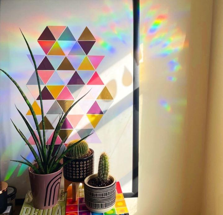 Boss Dotty Moon Phases Rainbow Suncatcher