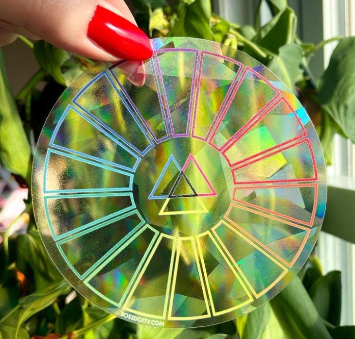 Boss Dotty Color Wheel Rainbow Suncatcher