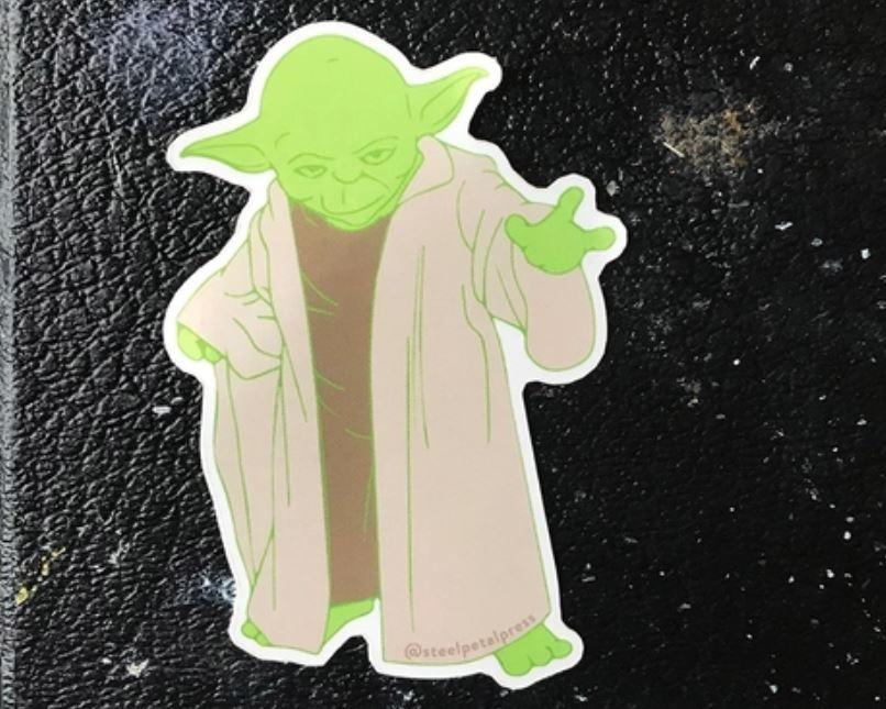 Steel Petal Press Yoda Sticker