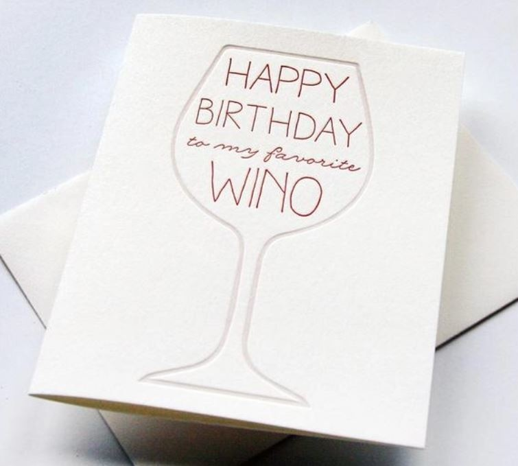 Steel Petal Press Wino Birthday Card