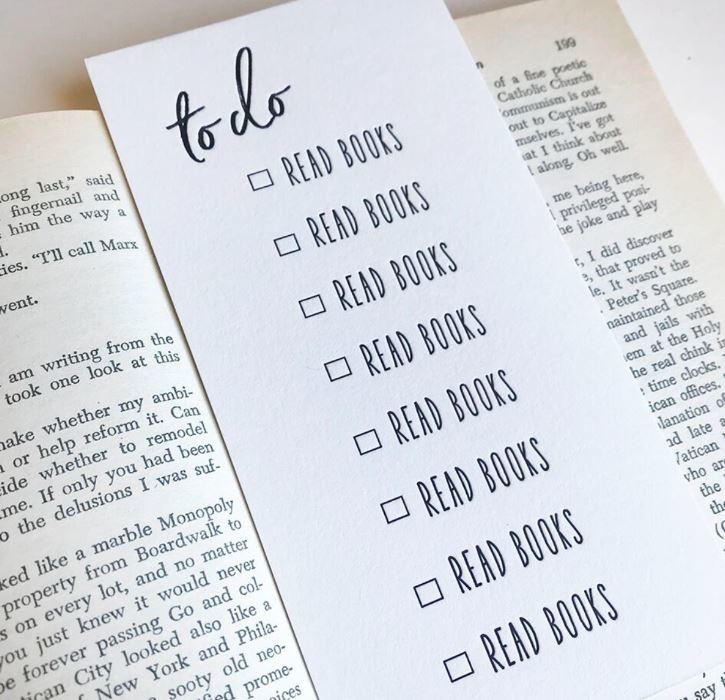 Steel Petal Press To Do Bookmark