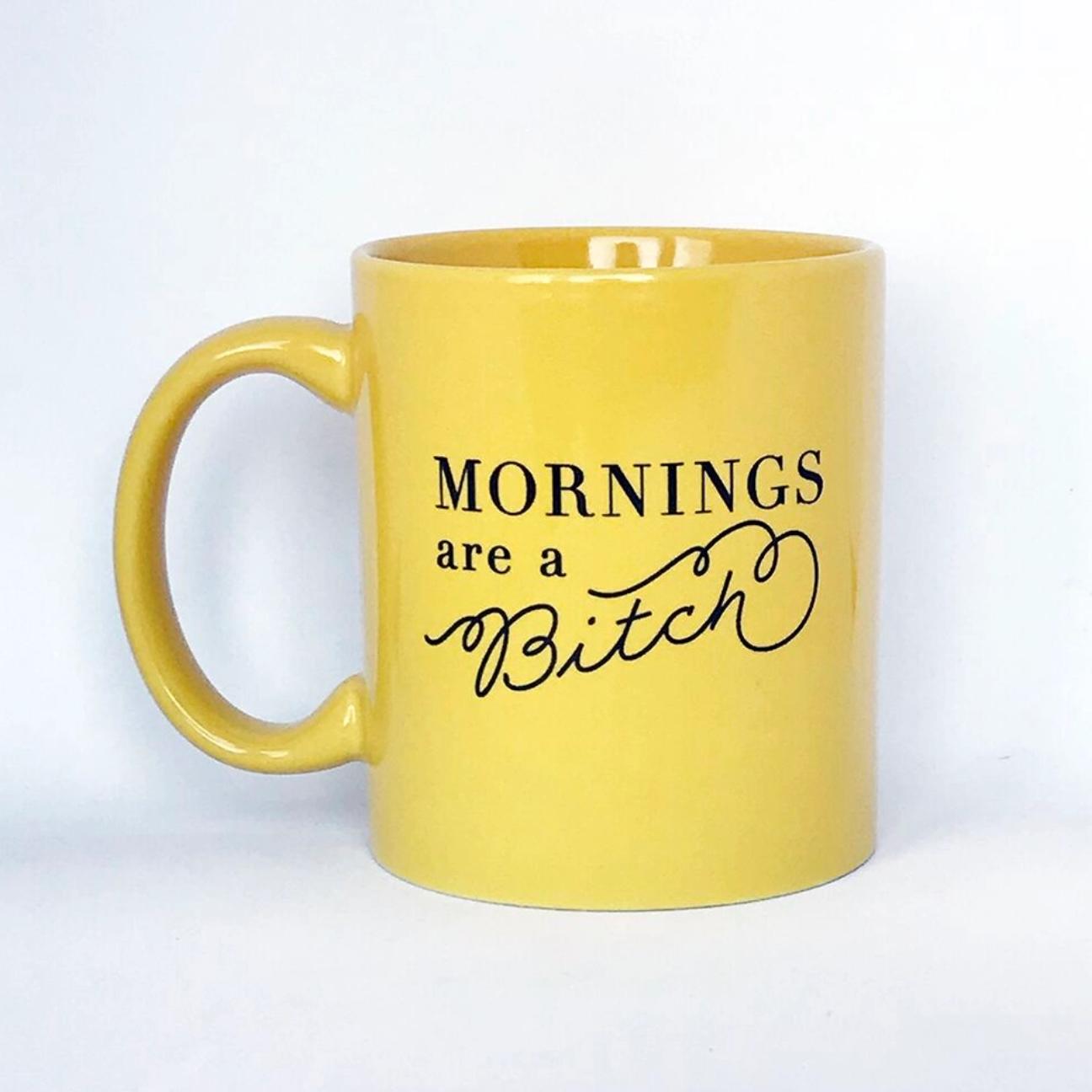 Steel Petal Press Mornings Are A Bitch Mug