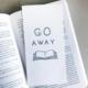 Steel Petal Press Go Away Bookmark