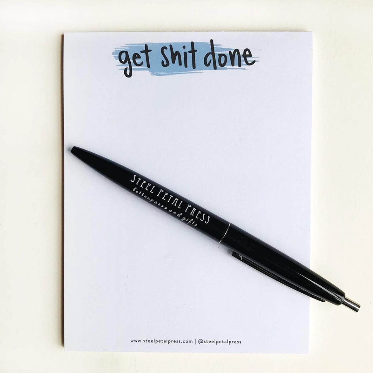 Steel Petal Press Get Shit Done Pocket Notepad