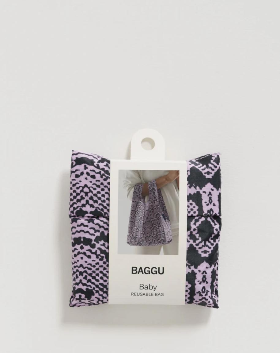 Baggu Baby Baggu - Pink Snakeskin - FINAL SALE