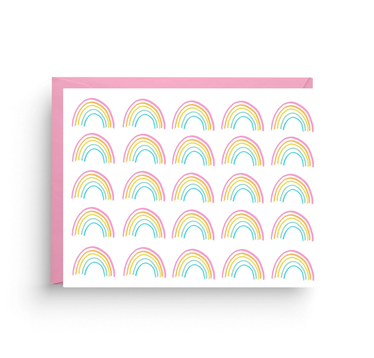Nicole Marie Paperie Rainbow Stationery Card