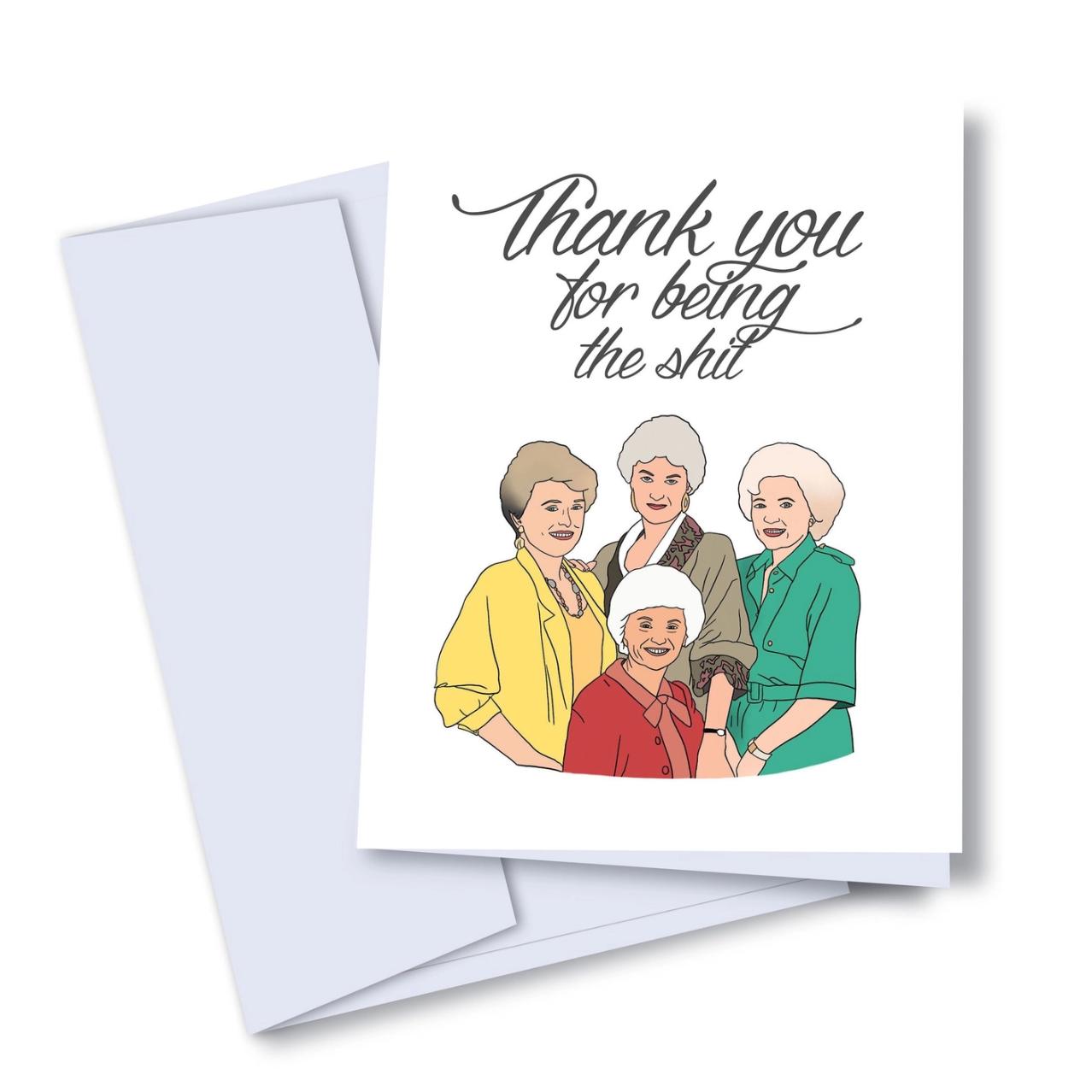Kaleidadope Golden Thanks Card