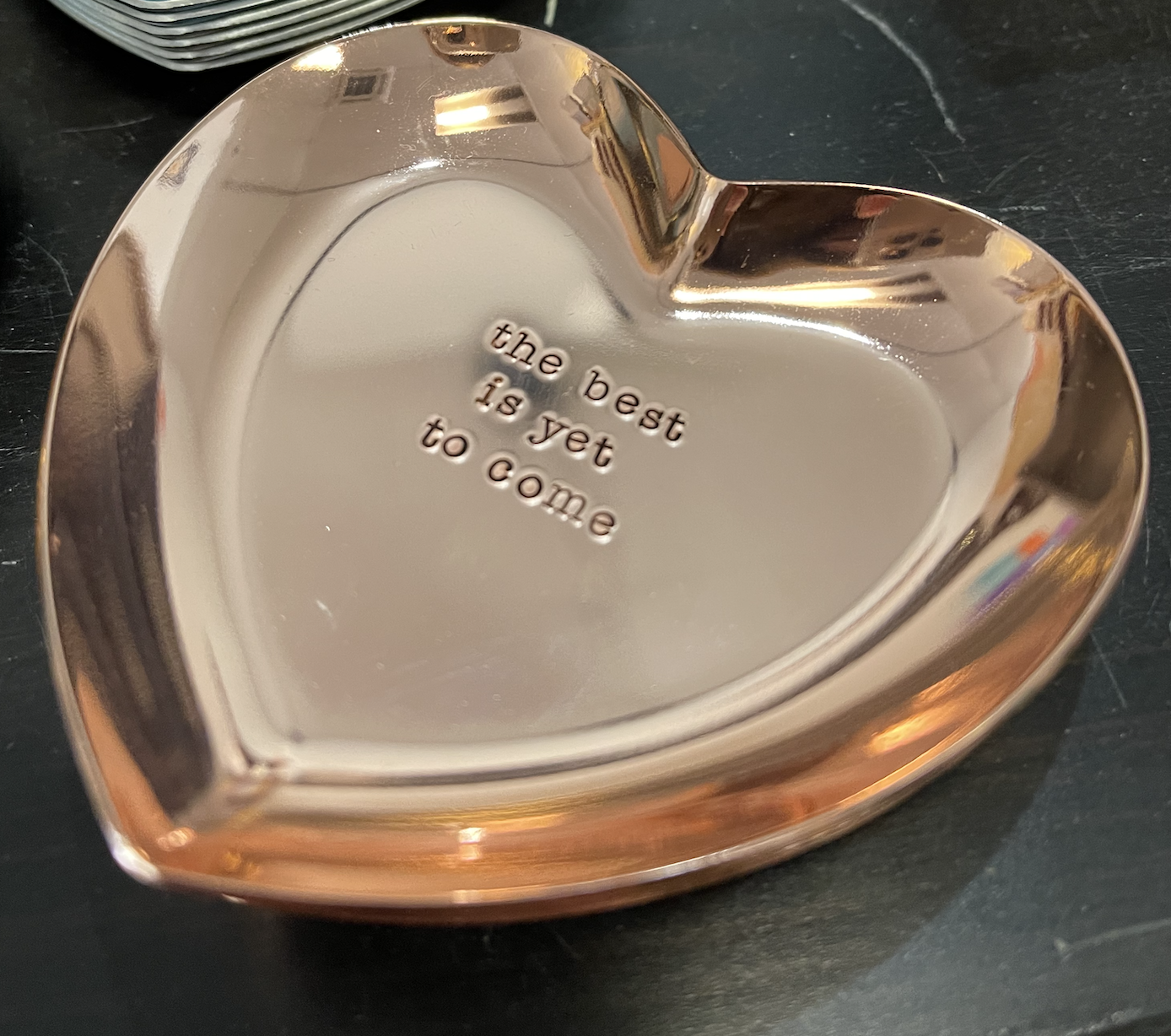 Rockaway Gypsea Rose Gold Heart Ring Dish