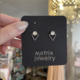 Metrix Jewelry Jamie Triangle Studs-Moonstone