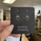 Metrix Jewelry Jamie Triangle Studs-Green Aventurine