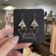 Metrix Jewelry Chevvy Earrings-Green/Pink