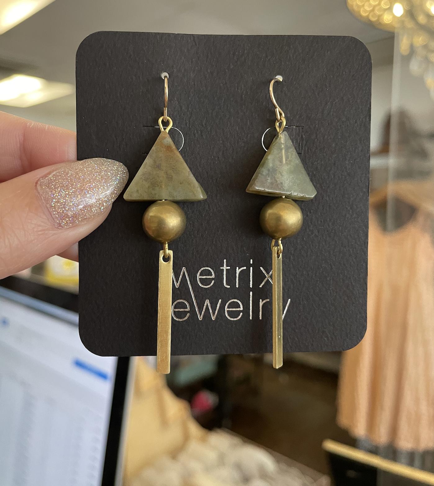 Metrix Jewelry Jasmine Earrings-Green