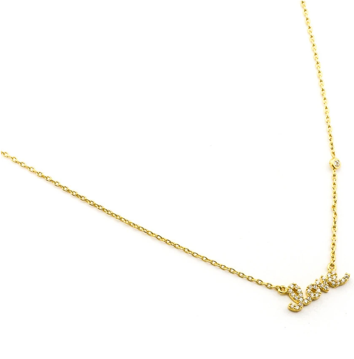 tai Simple Chain Love Necklace - Gold