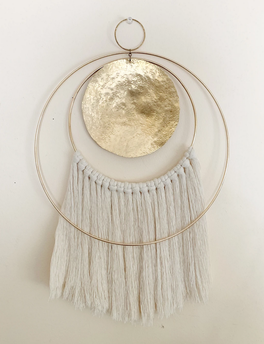 Metrix Jewelry Mini Double Hoop Wall Hanging-Beige