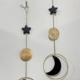 Metrix Jewelry Moon/Star Brass Wall Hanging-Agate