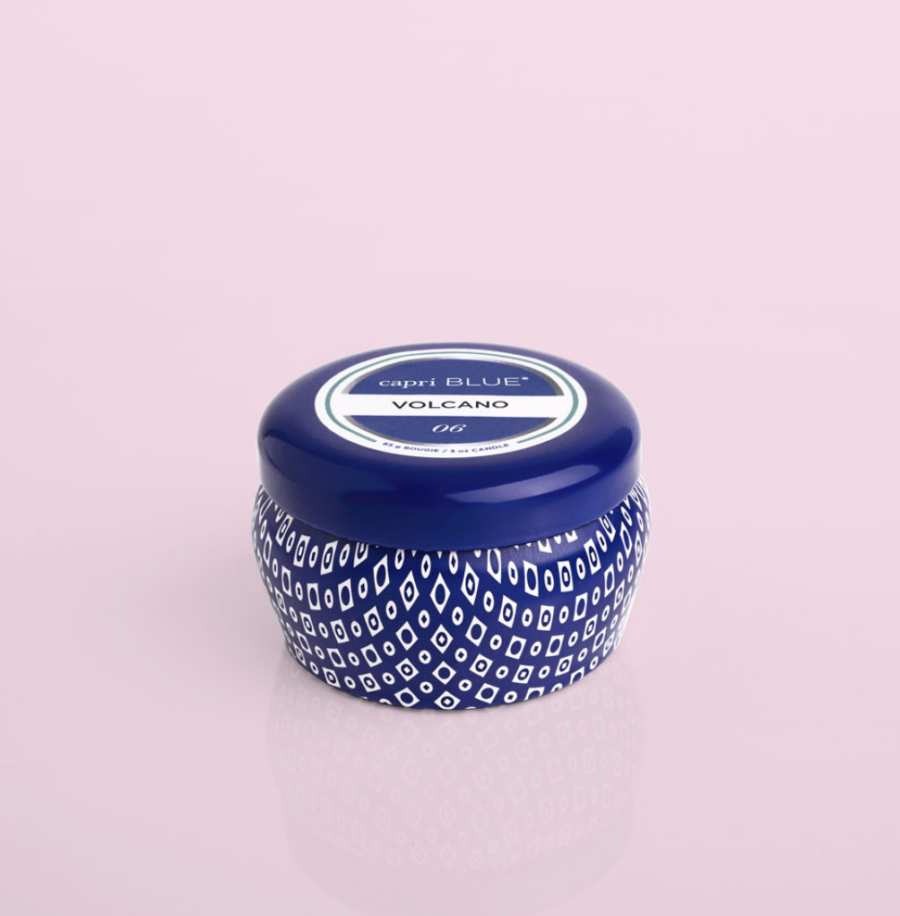Capri Blue Volcano Signature Blue Mini Tin Candle