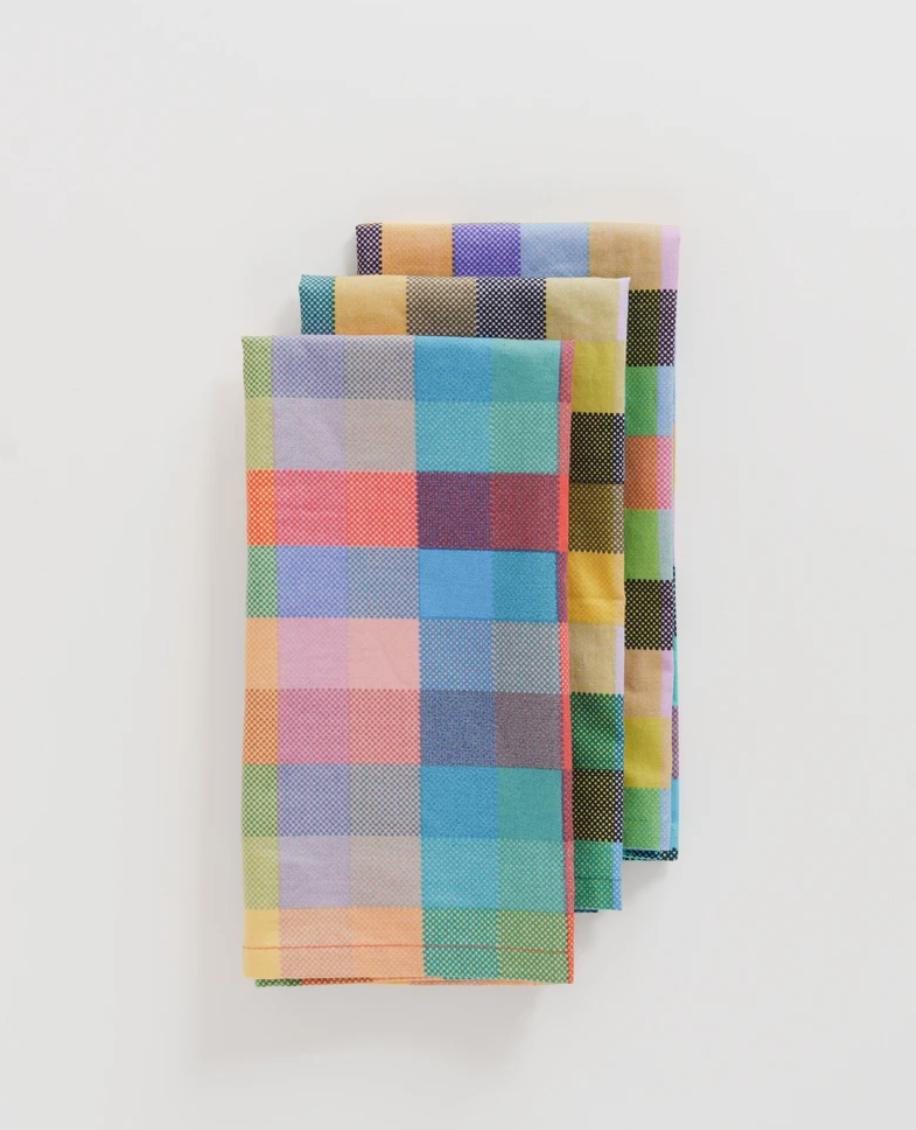 Baggu Reusable Cloth Set- Madras Mix