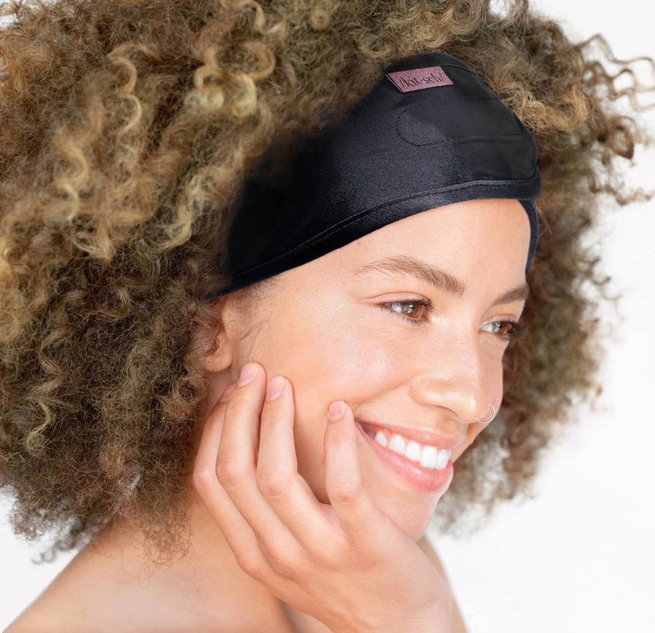 Kitsch Satin Sleep Headband - Black