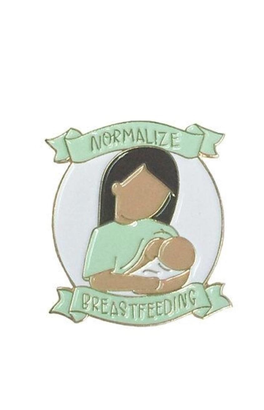 Little Lovelies Studio Normalize Breastfeeding in Caramel Enamel Pin