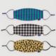 Baggu Fabric Mask Set Loop-Gingham, Leopard, Stripes