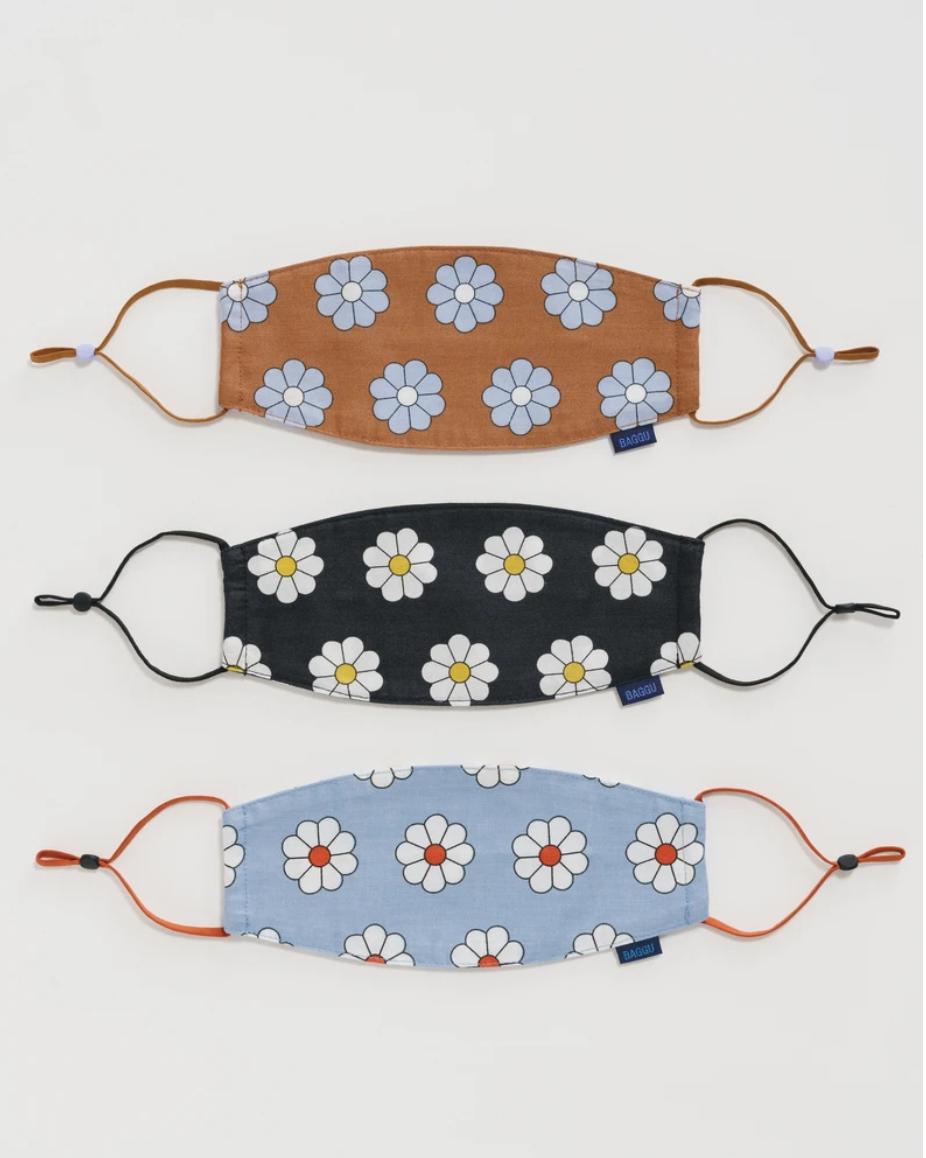 Baggu Fabric Mask Set Loop- Daisy