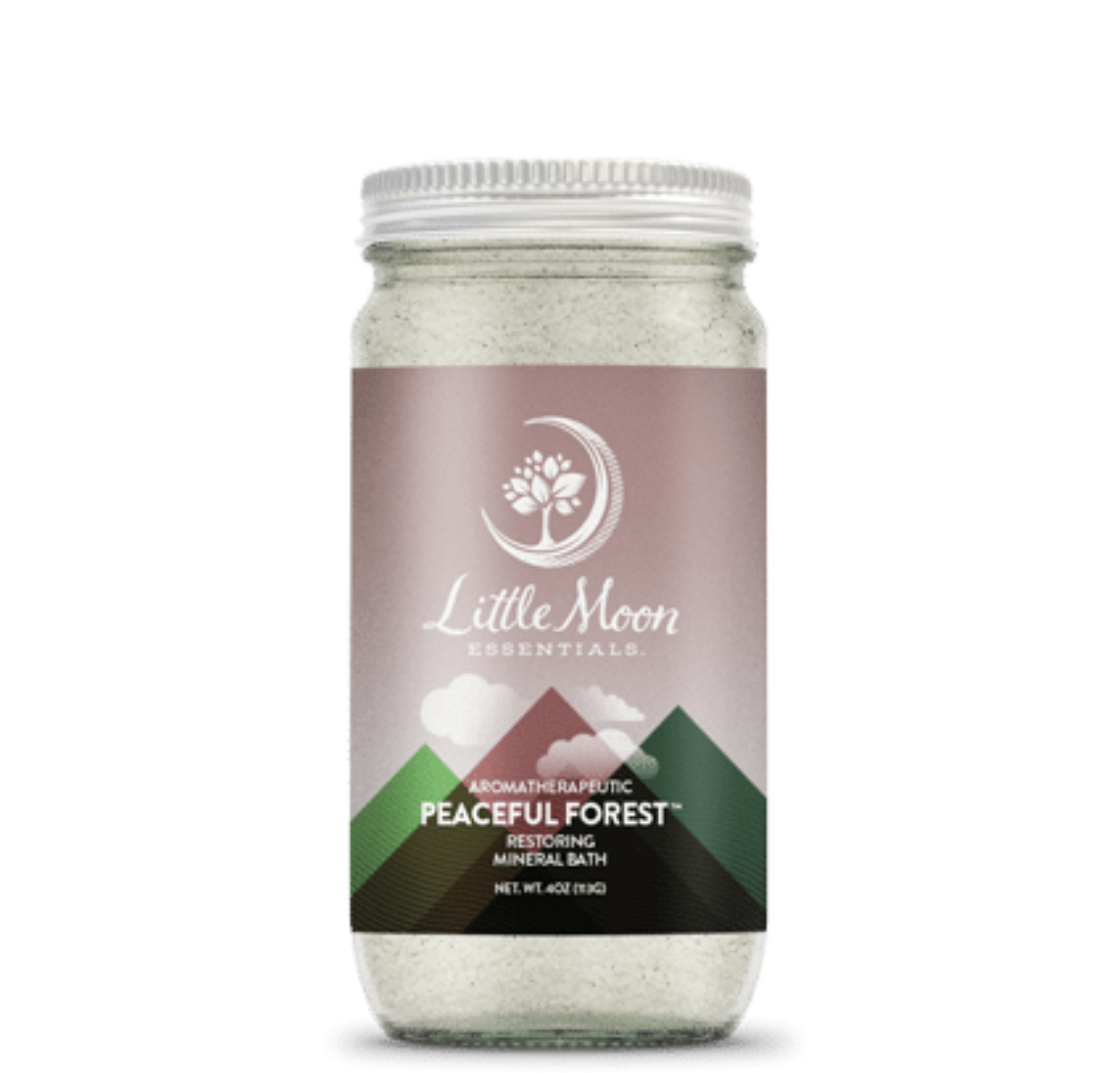 Little Moon Essentials Bath Salt 4oz - Peaceful Forest