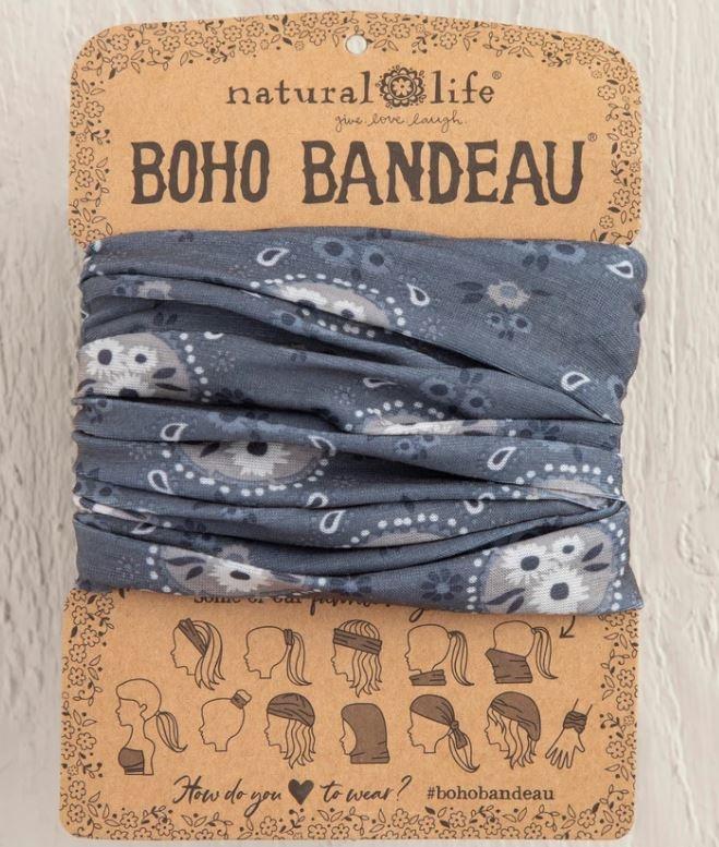 Natural Life Boho Bandeau - Charcoal Floral Bubbles