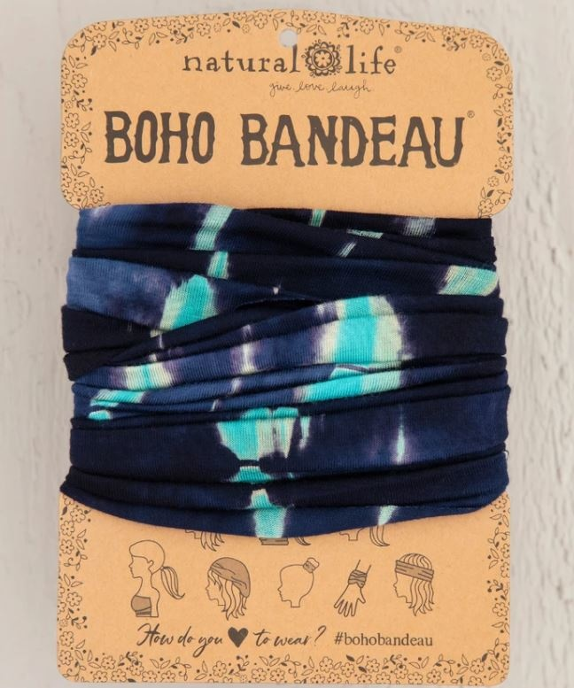 Natural Life Boho Bandeau - Turquoise Navy TieDye