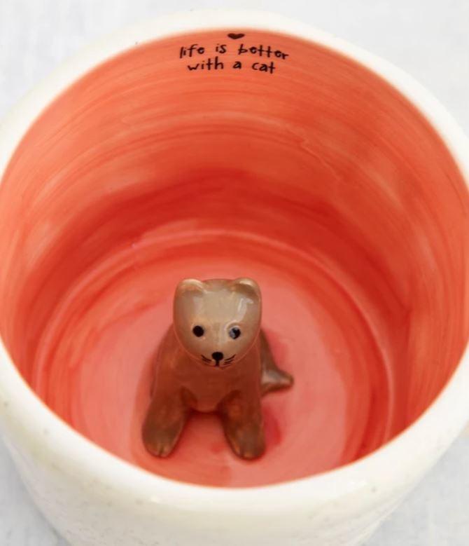 Natural Life Peek-A-Boo Mug-Cat