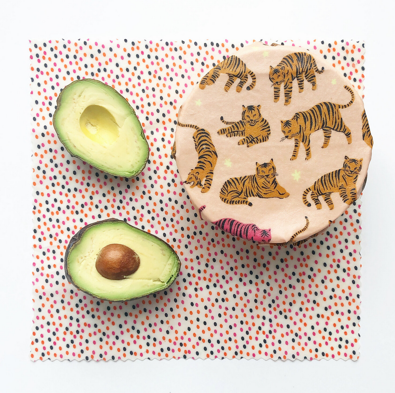 Please Bee Nice Tigers (Blush)- Set of 2 Beeswax Wrap